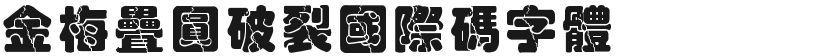 金梅叠圆破裂国际码字体的封面图