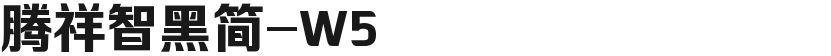 腾祥智黑简-W5的封面图