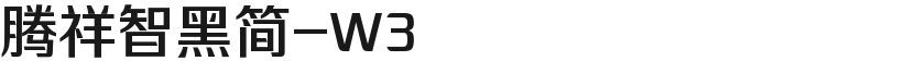 腾祥智黑简-W3的封面图