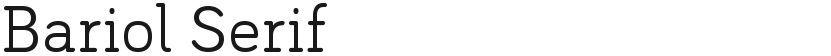 Bariol Serif的封面图