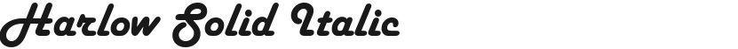 Harlow Solid Italic的封面图