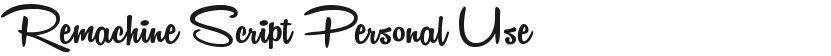 Remachine Script Personal Use的封面图
