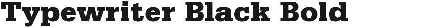 Typewriter Black Bold的封面图