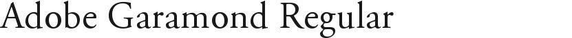 Adobe Garamond Regular的封面图