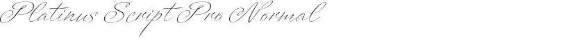 Platinus Script Pro Normal的封面图