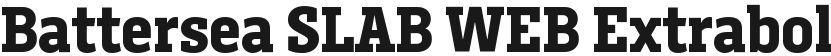Battersea SLAB WEB Extrabold的封面图