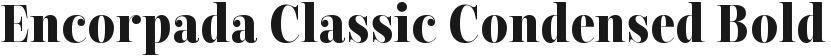 Encorpada Classic Condensed Bold的封面图