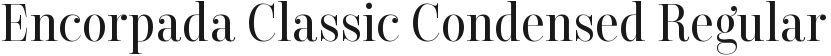 Encorpada Classic Condensed Regular的封面图