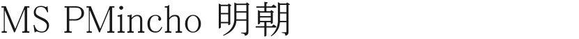 MS PMincho 明朝的封面图