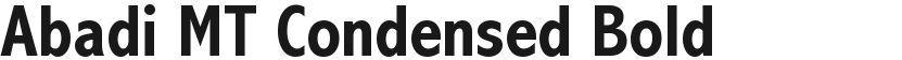 Abadi MT Condensed Bold的封面图