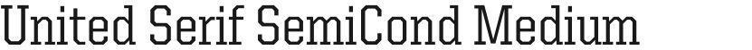 United Serif SemiCond Medium的封面图