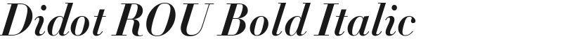 Didot ROU Bold Italic的封面图
