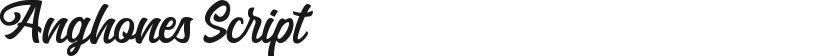 Anghones Script的预览图