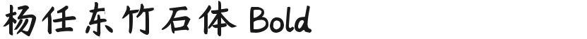 杨任东竹石体 Bold的封面图