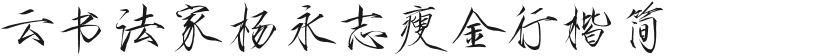 云书法家杨永志瘦金行楷简的封面图