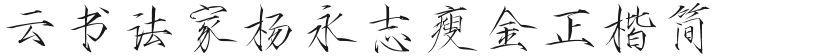 云书法家杨永志瘦金正楷简的封面图