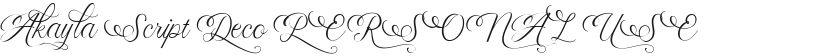Akayla Script Deco PERSONAL USE的封面图