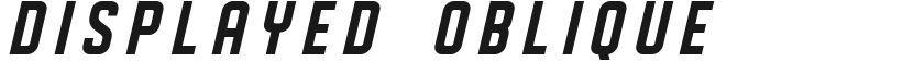 DISPLAYED Oblique的封面图