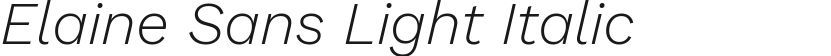 Elaine Sans Light Italic的封面图