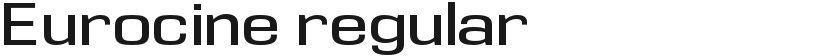 Eurocine regular的封面图