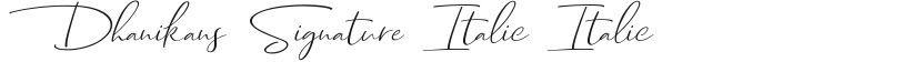 Dhanikans Signature Italic Italic的封面图