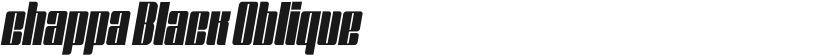 chappa Black Oblique的封面图