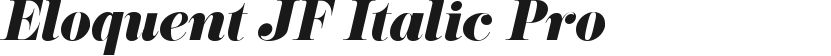 Eloquent JF Italic Pro的封面图