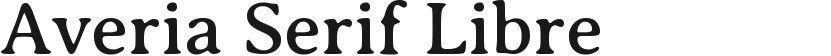 Averia Serif Libre的封面图