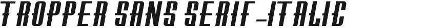 Tropper Sans Serif-Italic的封面图