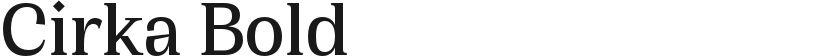 Cirka Bold的封面图