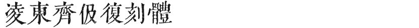 凌东齐伋复刻体的封面图