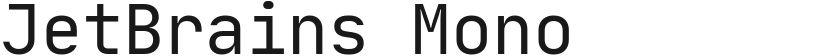JetBrains Mono的封面图