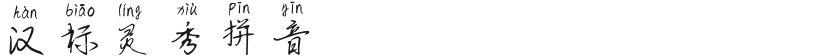 汉标灵秀拼音的封面图