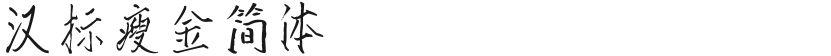 汉标瘦金简体的封面图
