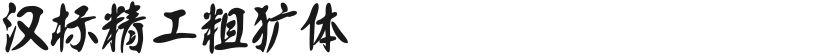 汉标精工粗犷体的封面图